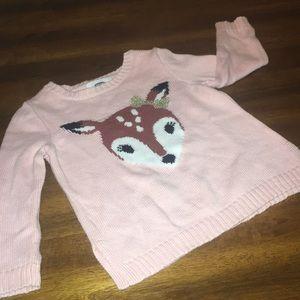 Pink Baby Deer Sweater